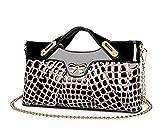 2014 neue Damen arbeiten PU-Leder-Handtasche Krokodil-Korn-Messenger Bag (braun)
