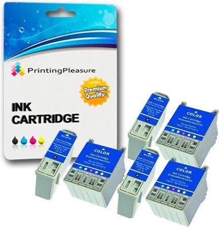 1290 Tinte (6 Tintenpatronen kompatibel zu Epson T007 T009 für Epson Stylus Photo 900 1270 1275 1280 1290 1290S - Schwarz/Farbig, hohe Kapazität)