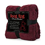 "Snug Rug Special Edition Luxury Sherpa Fleece Snug Rug Throw Blanket, Mulberry Red, 127 x 178cm (50"" x 70"")"