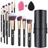 QivangeQivange Makeup Brushes Professional Foundation Eyeshadow Blending Brushes Set With Brush Holder+ Sponge...