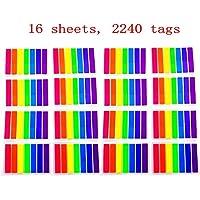 JZK 2240 pcs Mini marcadores adhesivos notas adhesivas de papel multicolor pestañas adhesivas marcar capítulos o páginas