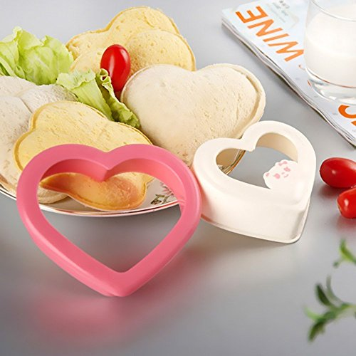 CONNECTWIDE® Heart Shaped Sandwich Maker Cake Cookies Kids Lunch Bread Mould Cutter Plastic,1 Piece, Size;(12 x 11 x 3.2 cm)  available at amazon for Rs.199