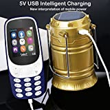 IKALL K3310 (Dark Blue) Dual Sim 1.8-Inch Display Mobile with Solar Powered LED Rechargeable Lantern with Power Option (Golden)