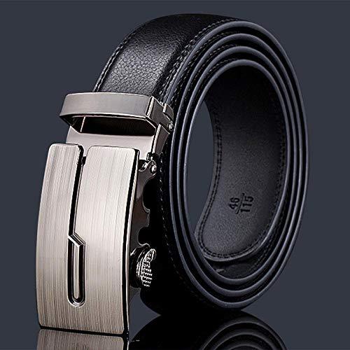 shuaishuaizhuanmai Ledergürtel Leder Herren Legierung automatische Schnalle Lederwarengeschäft, Stil 27,110-125cm