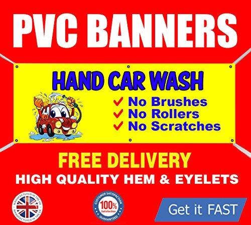 4' Waschen (Groß 4ft x 2ft Auto waschen Hand Waschen Schild PVC-Banner Vinyl Outdoor)