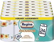 Asciugoni Regina Carta Cucina | Confezione da 24 Rotoli a 2 veli | 85 strappi per rotolo* | Maxi Fogli più Gra
