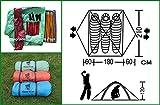GEERTOP Kuppelzelt Campingzelt Trekkingzelt Familienzelt Wasserdichtes - 180 x 210 x 120 cm (2,5kg) - 3 person 3 Jahreszeiten Ideal für Camping Wandern Reisen (Grün) -