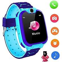 09bc7ffa2ee4 Reloj Inteligente para niños con Juegos - Niños Chicas Reloj Digital  Pulsera de 2 vías Llamada