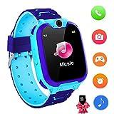 Reloj Inteligente para niños con Juegos - Niños Chicas Reloj Digital Pulsera de 2 vías Llamada Reloj Despertador Juegos de cámara Reloj Infantil para niños de 3 a 12 años (Azul)