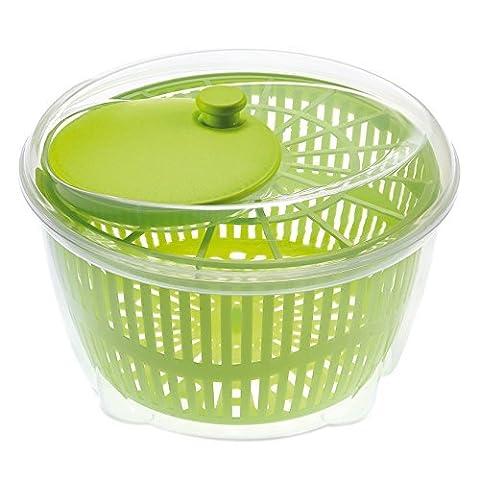 Large Salad Spinner Vegetable Veg Leaf Dryer Drainer Colander Plastic Bowl