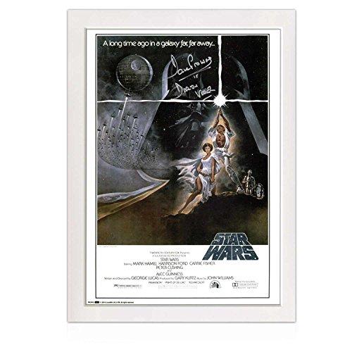 Darth Vader di Star Wars poster autografato