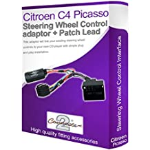 Adaptador de Radio para Coche Citroen C4 Picasso, Conecta los Controles de Volante