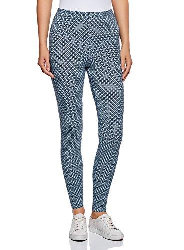 oodji Ultra Damen Leggings Basic, Blau, DE 34 / EU 36 / XS