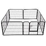 PawHut - Recinto per Cani Gatti Cuccioli Roditori - Recinzione Rete Gabbia 80x60cm 8pz