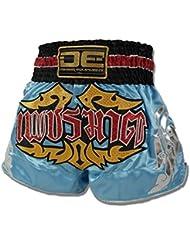 """'Danger Muay Thai Pantalones Cortos """"Exclusive Blue, hecha de satén, color multicolor, tamaño L (30"""")"""