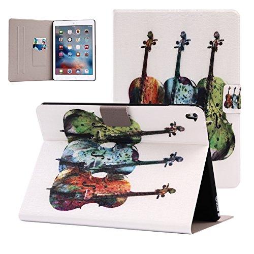 iPad Pro 9.7 inch Hülle, BasicStock Ultra Slim Soft Silikon + PC Hybrid Smart Hülle Schutzhülle Cover Gehäuse für iPad Pro 9.7 inch (Violinen) Abdeckung Für Violine