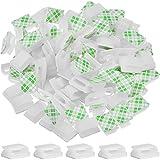 100 Stück Selbstklebende Kabelklemmen Drahtklammern Kabelmanagement Kabelbinder Draht Kabel Halter, Weiß