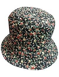 Sombrero De Pesca De Piña De Las Mujeres Flores Imprimir Fácil De Igualar Cubo Sombrero Plegable