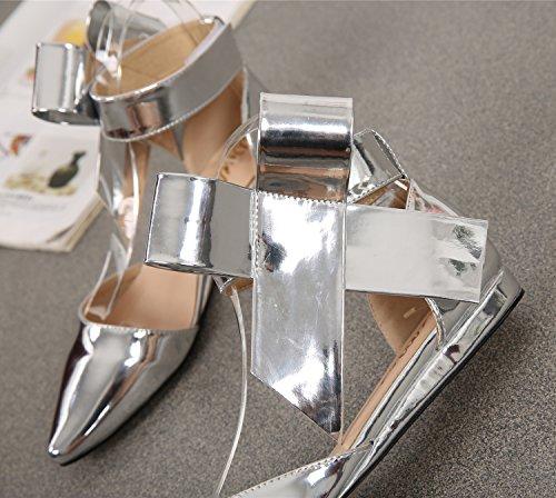 SEXYHER Femmes Mode talon plat Sandales - SHOMQ1128 silver