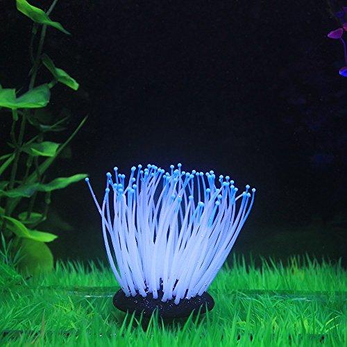 Decdeal Glühende Künstliche Seeanemone für Aquarium Dekoration - Pflanzen Süßwasser-aquarium