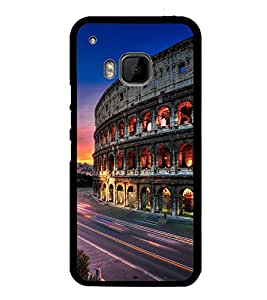Fuson Premium 2D Back Case Cover Mahal With Brown Background Degined For HTC One M9::HTC M9::HTC One Hima