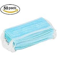 sungpunet 50 piezas azul 3 capas desechables polvo/quirúrgico máscaras, Universal fit, hipoalergénico