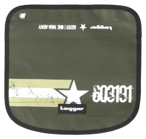 Tagger Messenger Flap Flow - One Man Army ARGR 5101-603191-ARGR, Sac mixte adulte - Vert-TR-L-1-70, EU