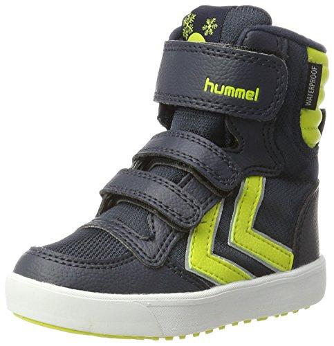 hummel Unisex-Kinder Stadil Super Poly Boot JR Schneestiefel, Blau (Sulphur Spring), 37 (Mädchen Super Stiefel)