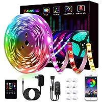 Ruban à LED, L8star LED Ruban Intelligent Bande Lumineuse Led 5050 RGB SMD Multicolore Bande LED Lumineuse avec Télécommande changement Synchroniser avec Rythme de Musique