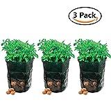 Fioriera 3-pack Garden Grow bag impermeabile verdure piantare bag vasca con patta di accesso per raccolta