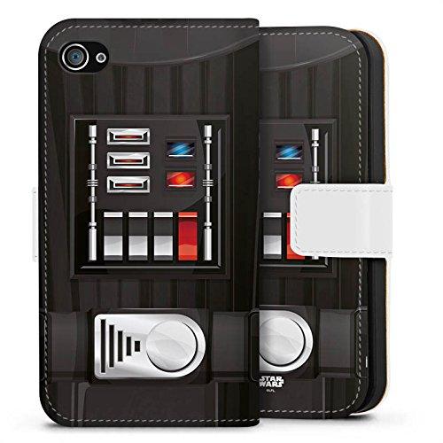Apple iPhone X Silikon Hülle Case Schutzhülle Star Wars Merchandise Fanartikel Darth Vader Sideflip Tasche weiß