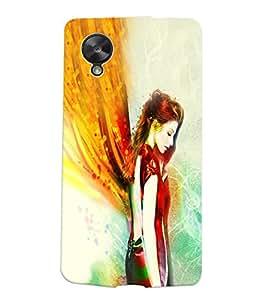 Fuson Angel Girl Back Case Cover for LG GOOGLE NEXUS 5 - D3966