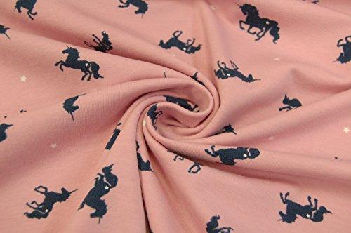 Coton-Jersey-Licornes-Rose