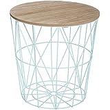 """Paris Prix - Table d'Appoint Design """"Kumi"""" 41cm Bleu"""