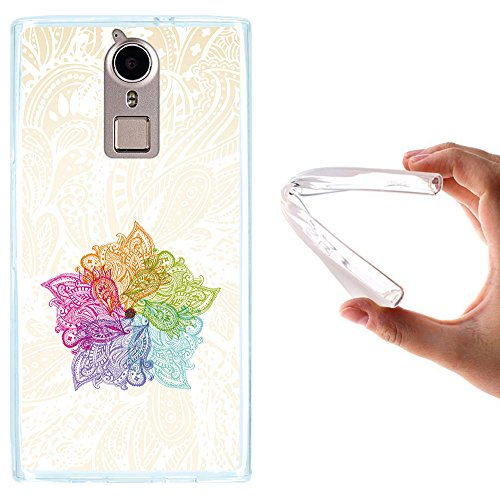 WoowCase Doogee F5 Hülle, Handyhülle Silikon für [ Doogee F5 ] Bunte Mandala Handytasche Handy Cover Case Schutzhülle Flexible TPU - Transparent
