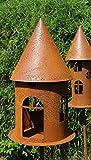 Blümelhuber Edelrost Vogelhaus am Stab Windlicht Futterstelle Gartendeko 160cm