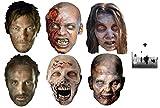 The Walking Dead Zombies, Daryl Dixon und Rick Grimes Karte Partei Gesichtsmasken (Maske) Packung von 6 - Enthält 6X4 (15X10Cm) starfoto