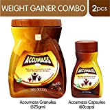 Accumass Weight Gainer Granules, 525g with 60 Capsules (918)
