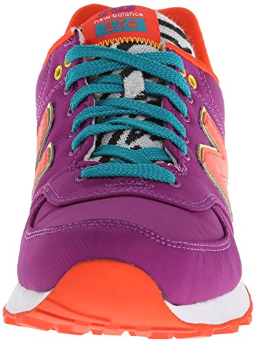 New Balance 574, Baskets Basses Femme Pourpre