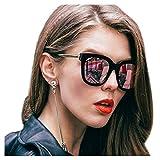 SIPHEW Occhiali da Sole Moda Mirror per Donna, Occhiali da Sole Oversize - Lenti Polarizzate con 100% Protezione 100% UVA/UVB