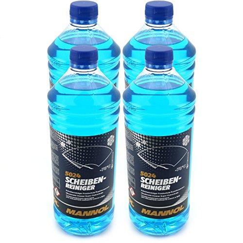 Preisvergleich Produktbild 4x 1 Liter Scheibenreiniger Frostschutz bis -70°C MANNOL