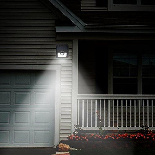 Mpow Solarleuchte 8 LED Solarlampe Sicherheits-, Bewegungs Licht Sensor mit 3 Intelligenten Modi für Garten usw. - 9