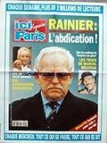 AFFICHE DE PRESSE [No 2492] du 07/04/1993 - RAINIER - L'ABDICTION - LES STARS ET LES ANIMAUX - LES TRUCS DE MARCEL BELIVEAU.