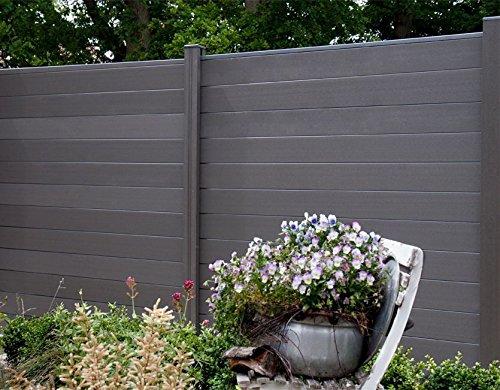 K + P Holz Sichtschutz dark grey
