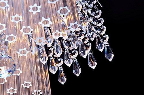 SaintMossi® Modern Unterputzmontage Wohnzimmer Kristall Deckenleuchte Kronleuchter 12 X G9 Lampenfassung Länge 40cm X Höhe 25cm X Breite 40cm - 5