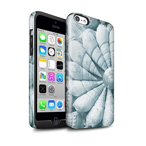 STUFF4 Glanz Harten Stoßfest Hülle / Case für Apple iPhone 5C / Ziegel/Stein/Mauer Muster / Teal Mode Kollektion Strand Schalen