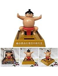 HoneybeeLY Juguetes de luchadores de sumo, juguetes de energía solar, juguetes de sumo decorativos para el automóvil y el hogar, juguetes con características japonesas