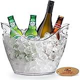 Yobansa Acrylique Transparent bouteilles de vin ou de champagne Seau à glace, barre d'outils, accessoires de Cave clear ice bucket