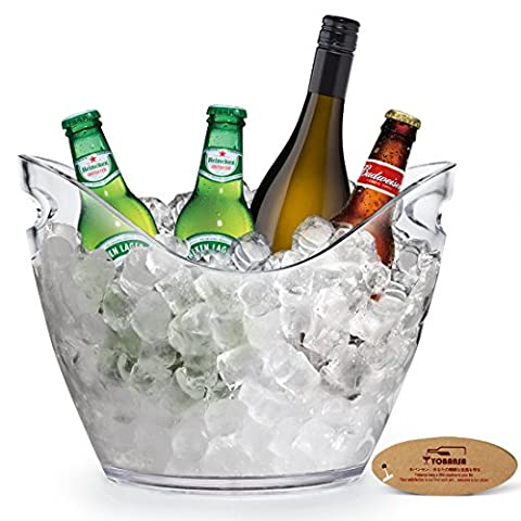 YOBANSA Clear Acrylic Wine or Champagne Bottles Ice Bucket,Bar Tools,Wine Accessories (clear ice