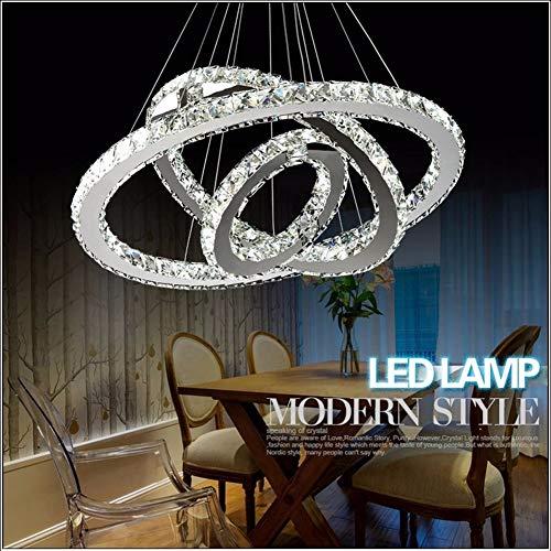 Shelltb lampadari in cristallo a led k9 lampadari moderni a sospensione a sospensione a led lampadari a sospensione (colore bianco naturale),1ringd20cm